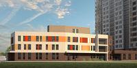Город Долгопрудный, микрорайон «Центральный», здание детского сада рядом с корпусом 16 (вид с северо-востока)