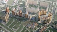 Город Долгопрудный, микрорайон «Центральный», общий вид с северной стороны