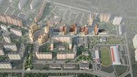 Город Долгопрудный, микрорайон «Центральный», общий вид с южной стороны
