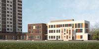 Город Долгопрудный, микрорайон «Центральный», здание детского сада рядом с корпусом 16 (вид с юго-востока)