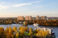 Город Долгопрудный, микрорайон «Хлебниково», вид со сотороны канала им. Москвы