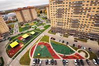 Город Долгопрудный, ЖК «Московские водники», дома со стороны ул. Набережная