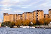Город Долгопрудный, ЖК «Московские водники», вид со стороны микрорайона «Хлебниково» (2)