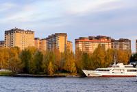 Город Долгопрудный, ЖК «Московские водники», вид со стороны микрорайона «Хлебниково»